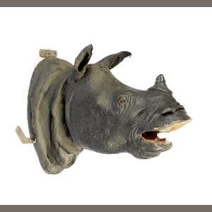Javan rhino mount