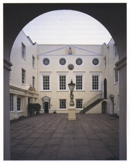 Inner courtyard of Apothecarian Society