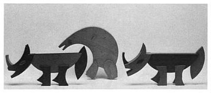 Fortunato Depero rhinoceroses and bear