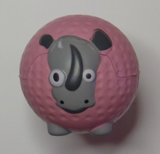 Rhino mini-golf ball