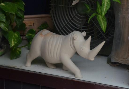 White rhino in a shop in Chomburi (Thailand)