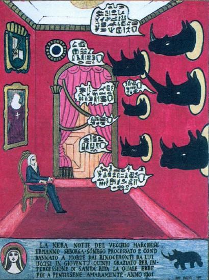 The marquis Ermanno Seborga-Sonego and the rhinoceroses