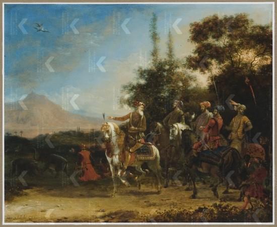 Shah Jahan hunting 1670