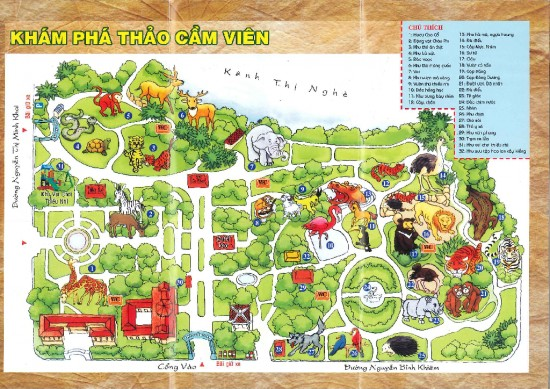 Saigon zoo map with rhino