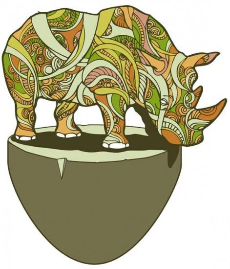 An original rhino picture