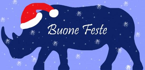 Happy holidays from Babbo Rhino