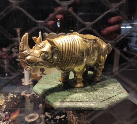 A black rhinoceros from a Belgrade shop