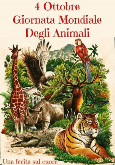 October 4th, the World Animal Day