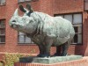 Indian Rhinoceros sculpture