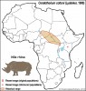 Nile Rhinoceros Range Map