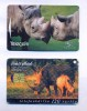 Rhinoceros phone cards (New Zealand & Hungary)