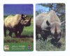 Rhinoceros phone cards (UNITEL & Rep. of Liberia)
