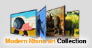 Modern Rhino Art Collection